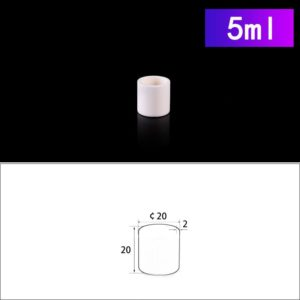 5mL Cylindrical Alumina Crucibles without Cover