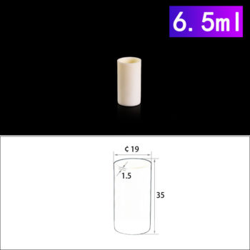 6.5mL Cylindrical Alumina Crucibles without Cover