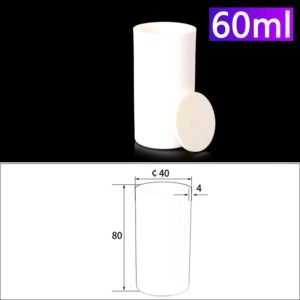 60ml Alumina Crucibles with Cover Cylindrical