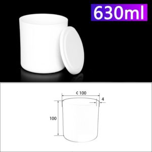 630mL Alumina Crucibles with Cover Cylindrical