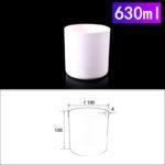 C259, Cylindrical Crucible, 630ml, 100x100mm, Alumina Crucible NO Cover (1pc/ea)