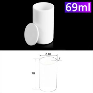 69ml Alumina Crucibles with Cover Cylindrical