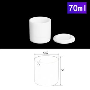 70ml Alumina Crucibles with Cover Cylindrical