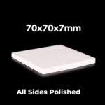 C498, Alumina Plate, LxWxH: 70x70x7mm, 99% Pure Alumina (5pc/ea)