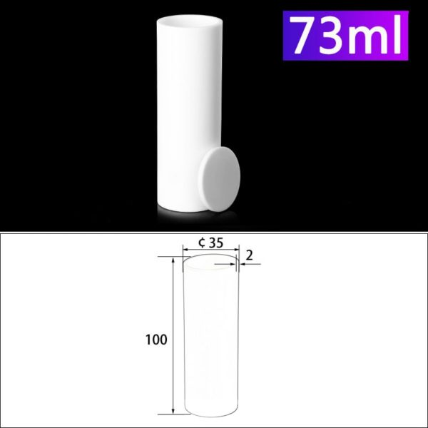 73mL Alumina Crucibles with Cover Cylindrical