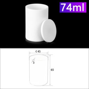 74mL Alumina Crucibles with Cover Cylindrical
