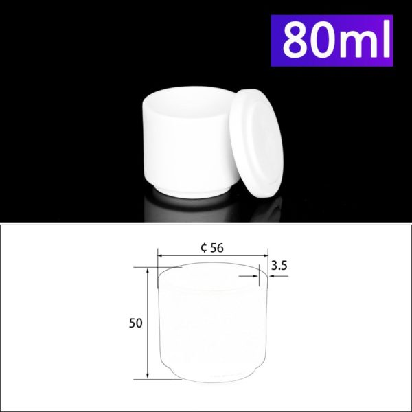 80mL Alumina Crucibles with Cover Cylindrical