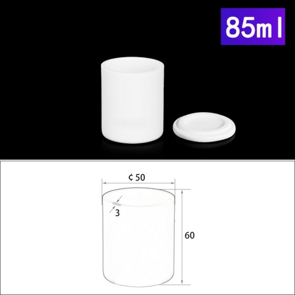 85mL Alumina Crucibles with Cover Cylindrical