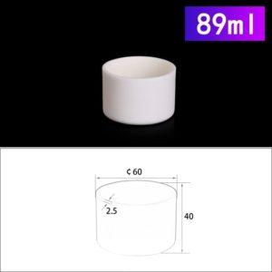 89mL Cylindrical Alumina Crucible without Cover