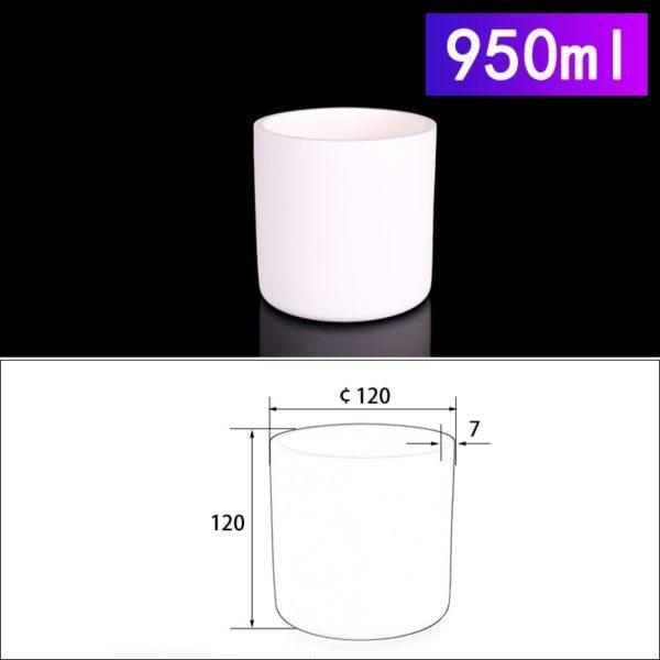 950mL Cylindrical Alumina Crucible without Cover