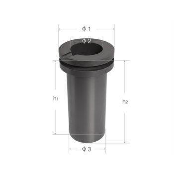 double-flange-graphite-crucibles-size