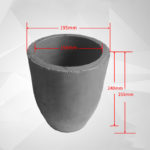 C871, Clay Graphite Crucible, Outer: 195x255mm, Inner: 155x240mm, for Metal Casting, Usable 1600°C (1pc/ea)