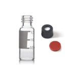 V8010, 8mm Diameter, 8-425, Vial+Cap+Septa, Clear, Hole Cap, Write-on Spot, 12x32mm Diameter, 1.5/2mL, Screw Cap, 100pc/ea
