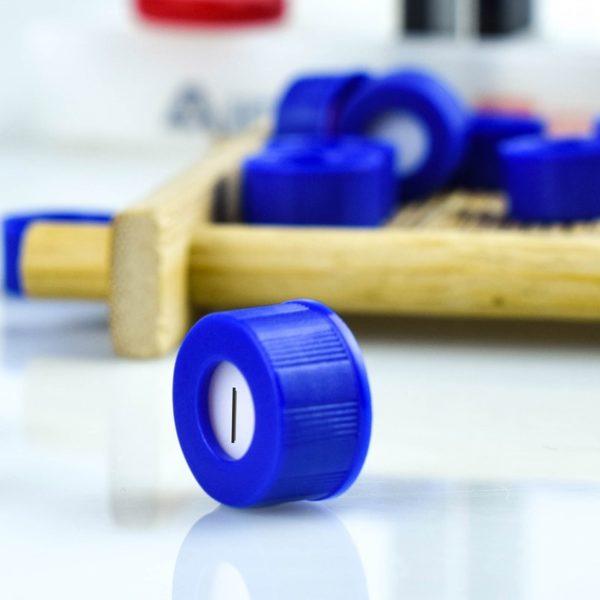 9mm Agilent Compatible HPLC Vial Cap Preslit