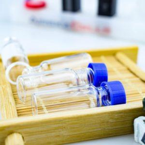 9mm clear vials