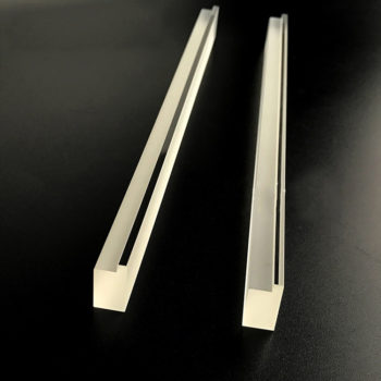 Custom Fluted Quartz Glass Step Sheets with Drilling