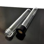 QT059, Custom Quartz Glass Screw Thread All Clear Bottle, Sample Bottle / Cuvette / Vial Customization
