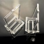 Custom Quartz Glass Wafer Cleaning Basket (3)