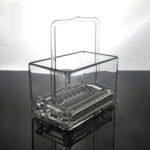 Custom Quartz Glass Wafer Cleaning Basket (4)