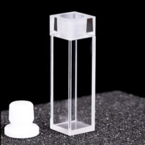 Fused Cuvette for Fluorometer 4 Clear Window with Stopper
